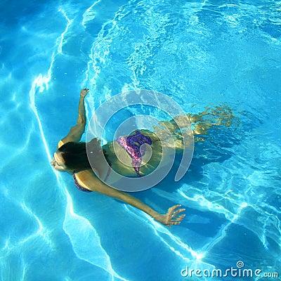 Girl Swimming in a pool