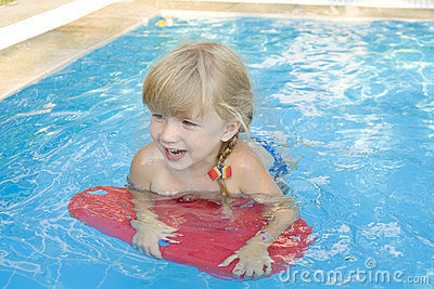 Girl in the swimming-pool