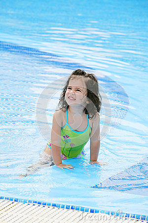 Girl in swimming suit