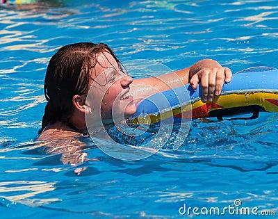 Girl in swimmingpool