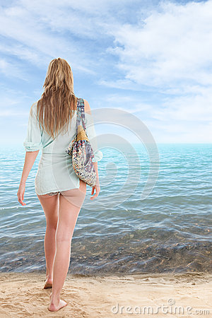 Girl in swimsuit