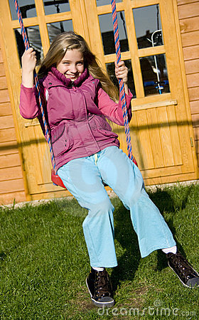 Girl On Swing Royalty Free Stock Image - Image: 9485606