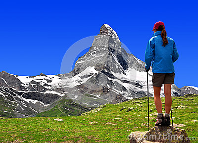 Girl in the Swiss Alps