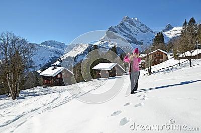 Girl in Swiss Alps