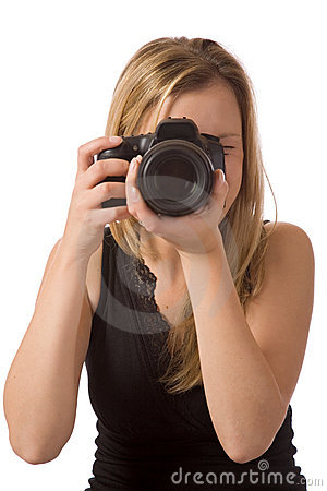 Free Girl Taking A Photo Royalty Free Stock Image - 2579986