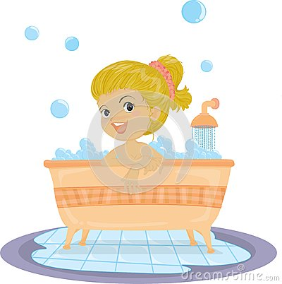 A Girl Taking Bath Royalty Free Stock Photos - Image: 14791308