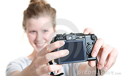 Girl taking photo of herself