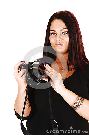 Girl taking pictures.