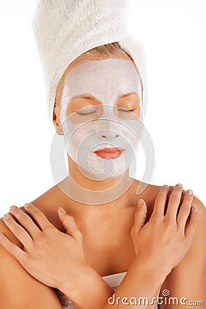 Girl taking spa procedure