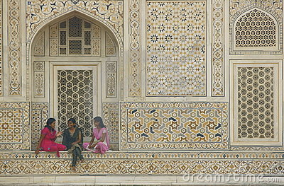 Girls Talking - Itimad-ud-Daulah - Agra - India Editorial Image