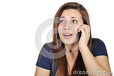 Girl talking on cellphone