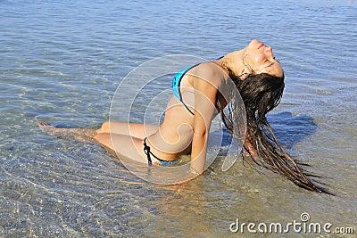 Girl tanning
