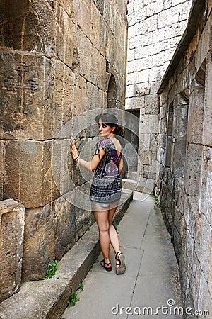 Girl in Tatev monastery