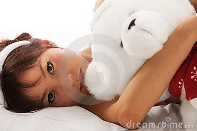 Girl and teddy