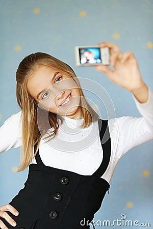 Girl-teenager photographed itself