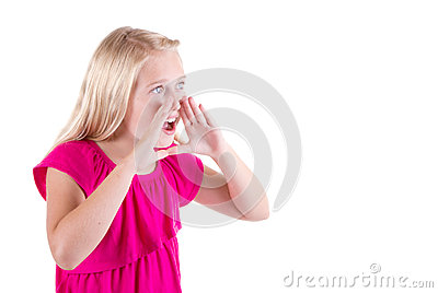 Girl or teenager shouting