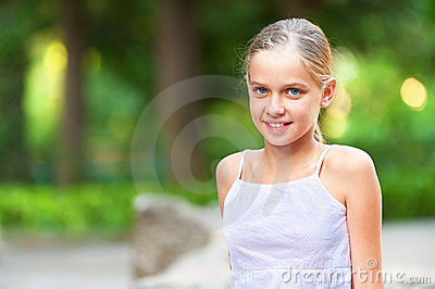 Girl-teenager on summer vacations