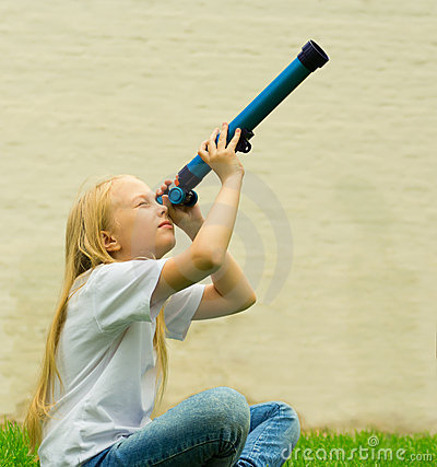 Girl With Telescope