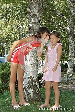 Girl Telling A Joke