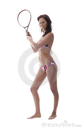 Girl with a tenis racket