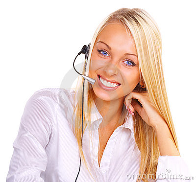 Free Girl The Operator Stock Photography - 2482712