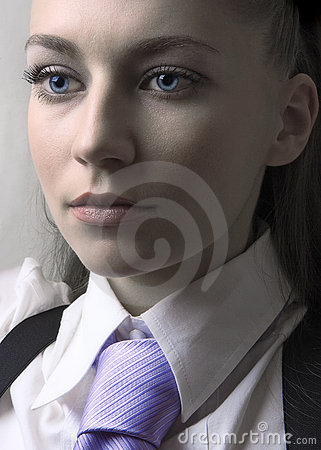 Girl with tie