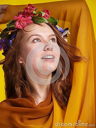 Girl in tissue