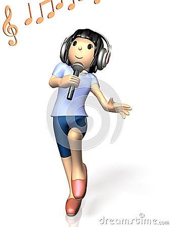 Girl to sing at karaoke