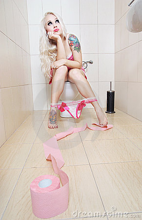 Girl in the toilet