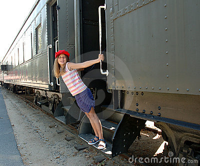 Girl and train 1