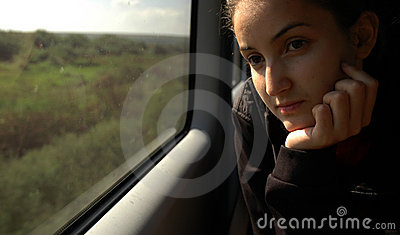 Girl on train #4