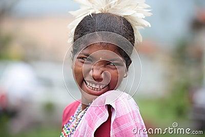 tribal Girl Editorial Stock Photo