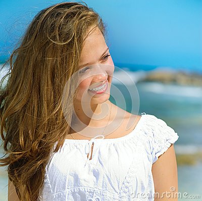 Girl in Tropical Resort
