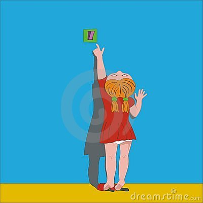 Girl Turning Off Light Royalty Free Stock Photo Image
