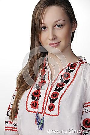 Girl in Ukrainian national costume