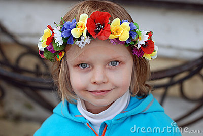 Girl in ukrainian wreath