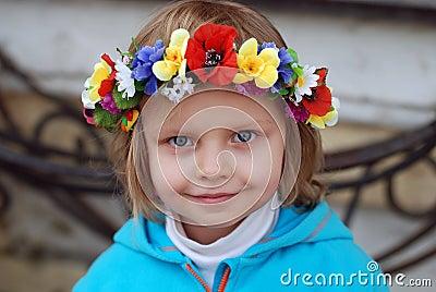 Girl in ukrainian wreath