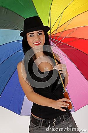 Girl with umbrela