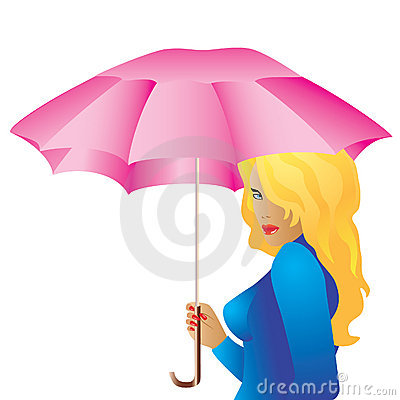 The girl with the umbrella