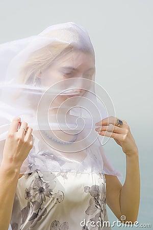 Girl under a veil