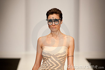 Girl in unusual glasses Editorial Image