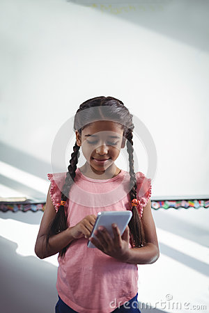 Free Girl Using Cellphone In School Royalty Free Stock Image - 96121186