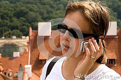 Girl using mobile phone