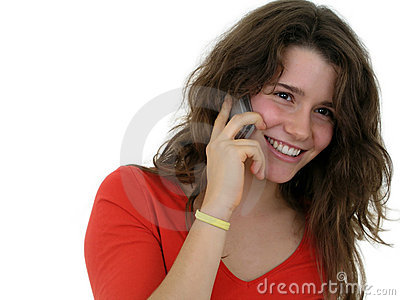 Girl using a mobile phone
