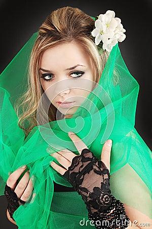 Girl in veil