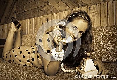 Girl at vintage room