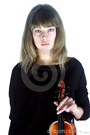 Girl violinist no smile [01]
