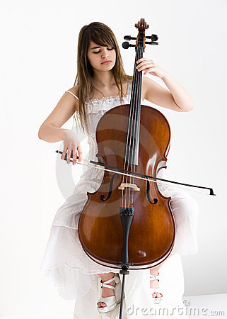 Girl with violoncello