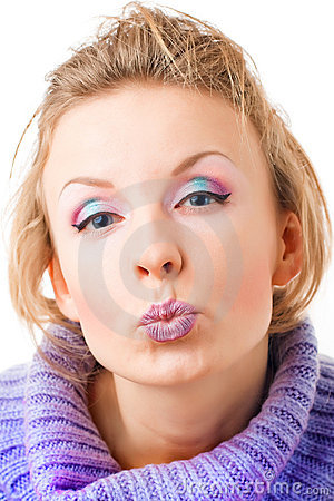 Girl with vivid makeup