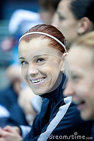 Girl volleyball game, libero Ezhova Editorial Photo